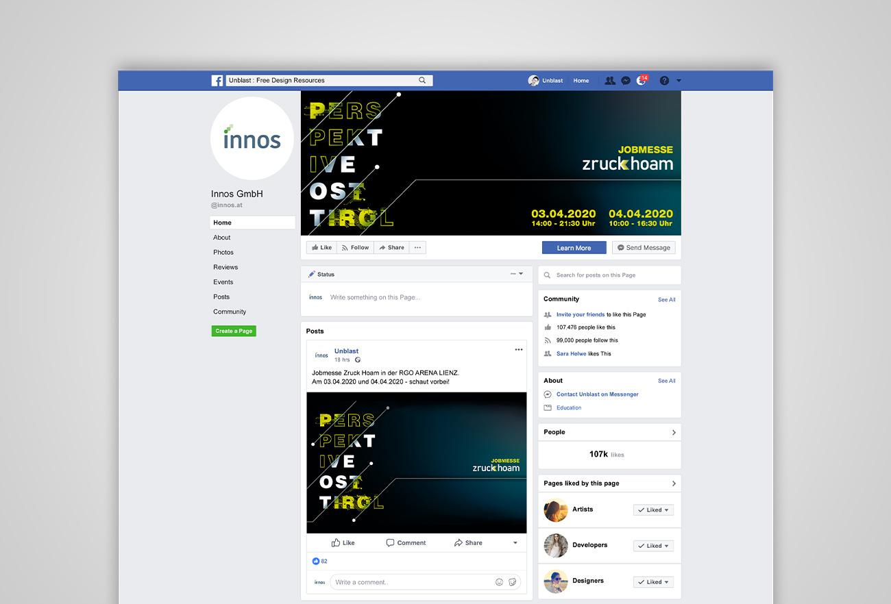 Facebook Post Jobmesse Zruck Hoam 2020