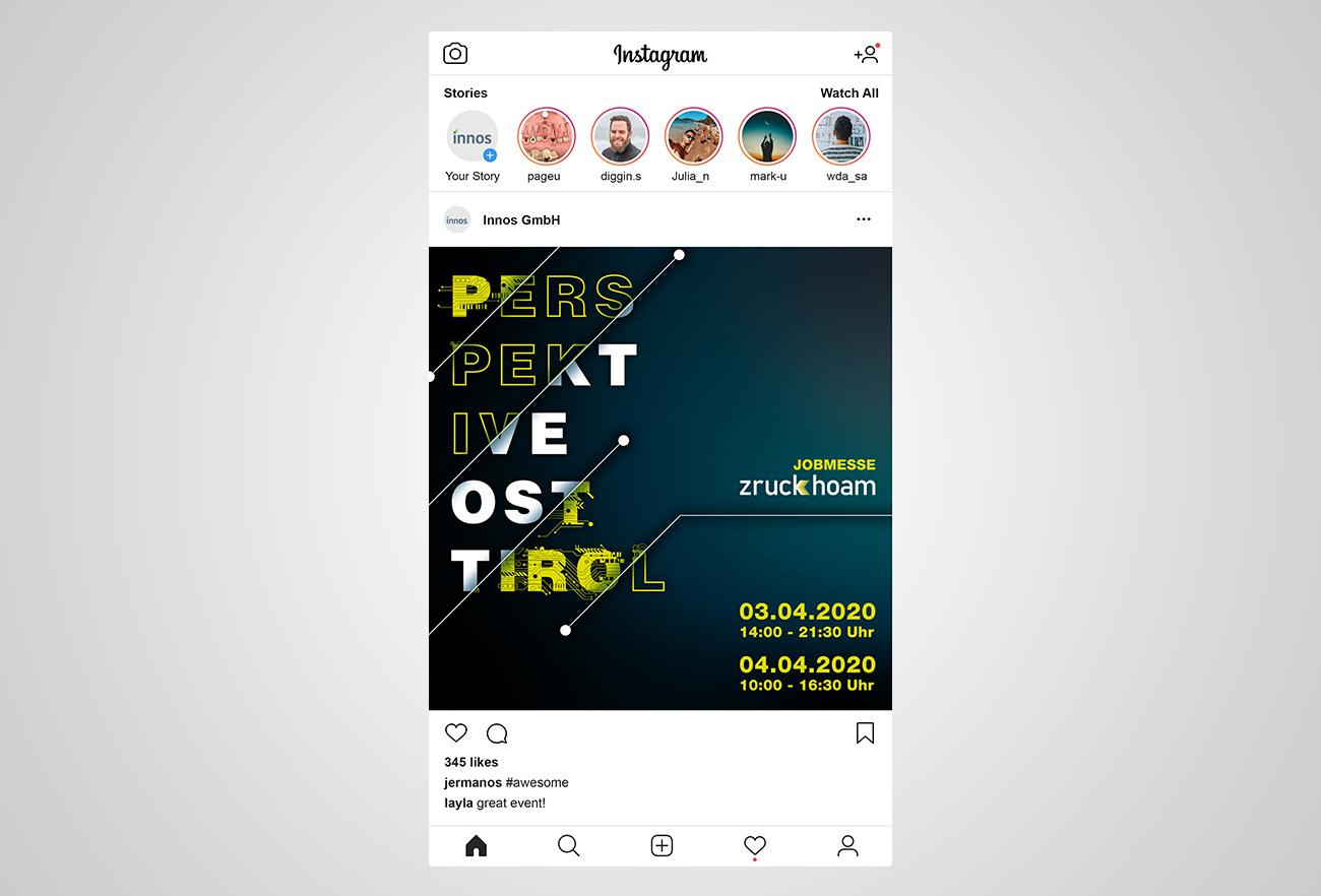 Instagram Post Jobmesse Zruck Hoam 2020