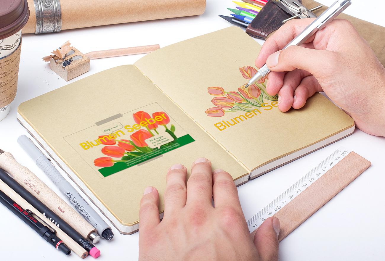 Blumen Seeber Logo alt & neu