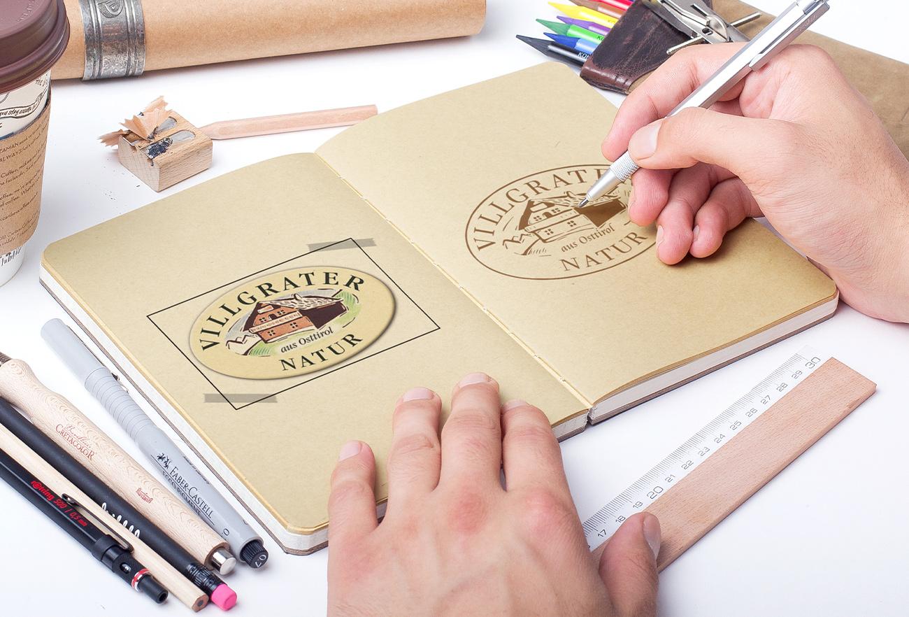Villgrater Natur Logo alt & neu